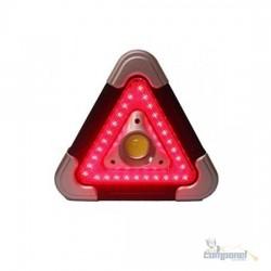 Triângulo Carro Led Luz Sinalizador Segurança Emergência